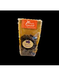 Bonbon Chocolat Noir Bio - fourré au Cassis