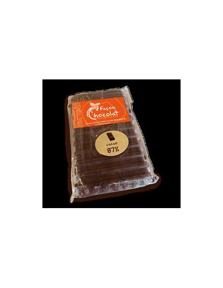 Tablette Chocolat Bio Noir 87% pur