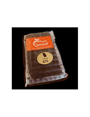 Tablette Chocolat Bio Noir 67% pur