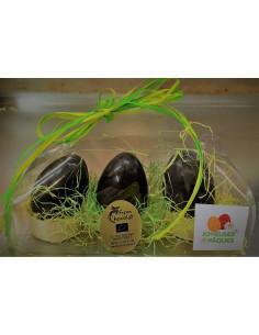 3 oeufs Chocolat noir - 80 g