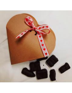 Boîte Coeur Framboise et Praliné noisette -90 g