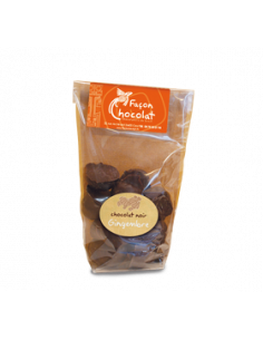 Bonbon Chocolat Noir Bio au Gingembre confit