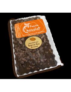Tablette Chocolat Bio Noir Eclats de Fèves