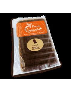 Tablette 100% Cacao Bio Noir  sans sucre